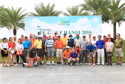 Tk Golf Tournament in Hanoi Vietnam golfers of 18 countries in the World. October 2016