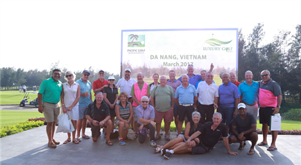 Luxury Golf Tours and Pacific Golf Group host 10 international golf tournaments and 100 golfers. In Da Nang, Viet Nam, March 2017.