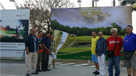 the golfers from Malaysia golf tournament expanded in January 2017 BRG Hanoi, Vietnam